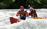 Canoeing in Switzerland! Learn to steer an inflatable 2-person-canoe yourself. A comprehensive instruction allows you an enjoyable river safari.