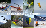Rafting, canyoning, skydiving, paragliding, helicopter flight, flight an helicopter, flight simulator, ballooning, dog sledding, canoeing, sup